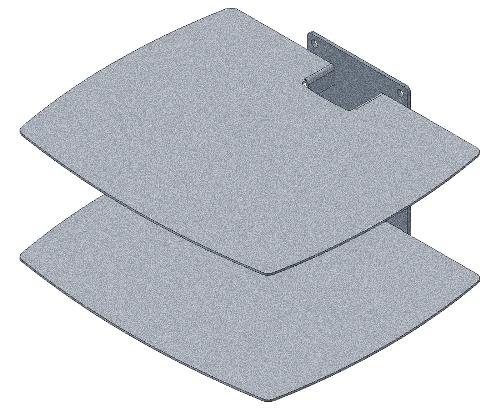 wandregal 2 plattformen silber. Black Bedroom Furniture Sets. Home Design Ideas